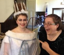 Look! It's the White Witch! And she's SMILING!!!